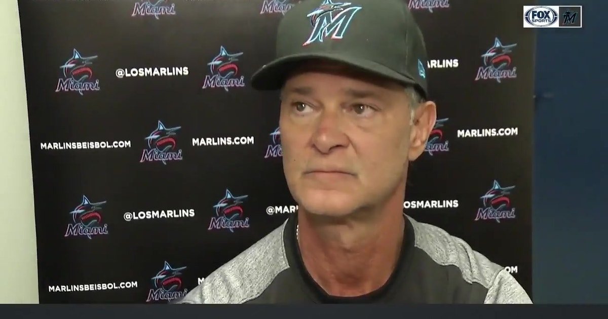 Don Mattingly talks about Marlins' tough win over Cardinals in extra innings