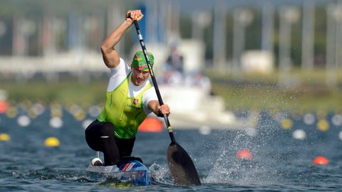 <p>               FILE - In this Saturday, Aug. 11, 2012 file photo, Lithuania's Jevgenij Shuklin competes in the men's canoe single 200-meter final at the 2012 Summer Olympics, in Eton Dorney, near Windsor, England. Olympic silver medalist Jevgenij Shuklin has been disqualified from the 2012 London Olympics for doping with an anabolic steroid. The IOC has yet to reallocate medals. (AP Photo/Philip Brown, Pool, File)             </p>