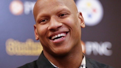 <p>               FILE - In this June 6, 2018, file photo, Pittsburgh Steelers linebacker Ryan Shazier takes questions during a news conference at the NFL football teams headquarters in Pittsburgh. Shazier has won the 2019 George Halas Award by the Professional Football Writers of America. The Halas Award is given to an NFL player, coach or staff member who overcomes the most adversity to succeed. Shazier is making progress from a spinal contusion suffered in the 2017 season while making a tackle and has not played since. (AP Photo/ Photo/Keith Srakocic, File)             </p>