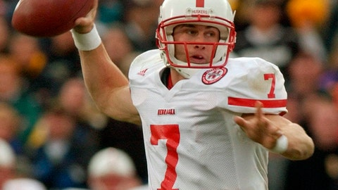 <p>               FILE - In this Nov. 23, 2001, file photo, Nebraska quarterback Eric Crouch rolls out to pass during the third quarter against Colorado in a Big-12 NCAA college football game in Boulder, Colo. A glance at the list of candidates eligible for selection to the College Football Hall of Fame is likely to produce the following reaction: How is that guy not in yet? Heisman Trophy winners Rashaan Salaam, Carson Palmer and Crouch are still waiting. (AP Photo/David Zalubowski, File)             </p>