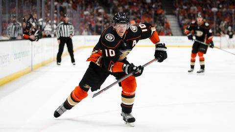 "<p>               FILE - In this March 18, 2018, file photo, Anaheim Ducks' Corey Perry skates during the second period of an NHL hockey game against the New Jersey Devils, in Anaheim, Calif. The Anaheim Ducks have bought out the contract of former NHL MVP Corey Perry after 14 seasons with the franchise. The Ducks announced the move Wednesday, June 19, 2019. General manager Bob Murray called it ""one of the most difficult decisions I've had to make in my 44 years in the NHL.""(AP Photo/Jae C. Hong, File)             </p>"