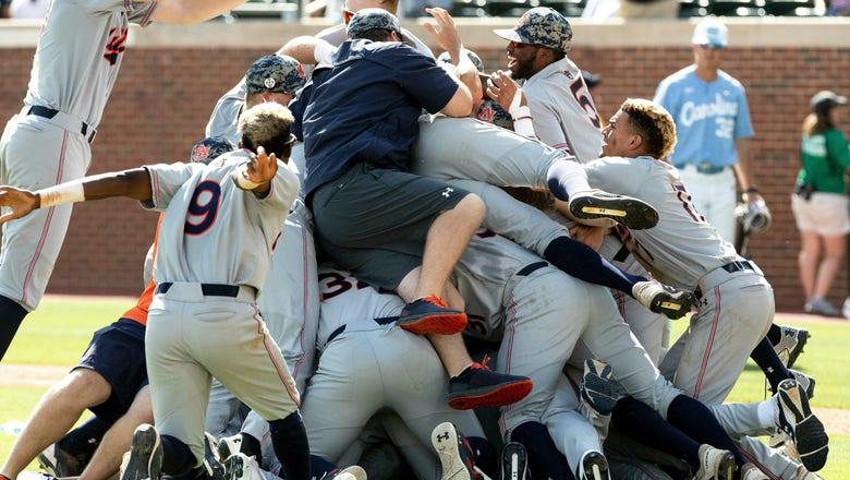 Auburn, Arkansas give SEC half of College World Series field