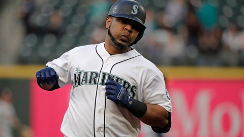 <p>               Seattle Mariners' Edwin Encarnacion rounds the bases after hitting a solo home run against the Houston Astros during the third inning of a baseball game, Monday, June 3, 2019, in Seattle. (AP Photo/Ted S. Warren)             </p>