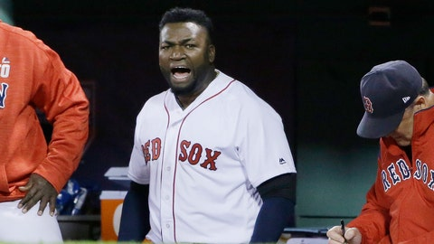 <p>               FILE - In this Oct. 10, 2016, file photo, Boston Red Sox designated hitter David Ortiz encourages the crowd from the dugout during the eighth inning in Game 3 of baseball's American League Division Series against the Cleveland Indians in Boston. Former Boston Red Sox slugger Ortiz was shot and wounded in his native Dominican Republic, his father told ESPN on Sunday, June 9, 2019.  (AP Photo/Elise Amendola, File)             </p>
