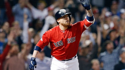 <p>               Boston Red Sox's Christian Vazquez reacts after his two-run walk off home run during the 10th inning of a baseball game against the Toronto Blue Jays in Boston, Friday, June 21, 2019. (AP Photo/Michael Dwyer)             </p>