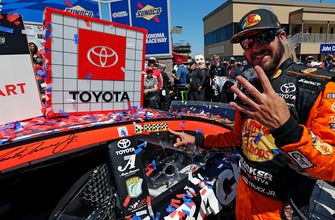 FINAL LAPS: Martin Truex Jr. holds off a late charge by Kyle Busch to win at Sonoma