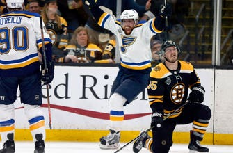 Road warrior Blues embrace opportunity to win Cup Final Game 7 in Boston