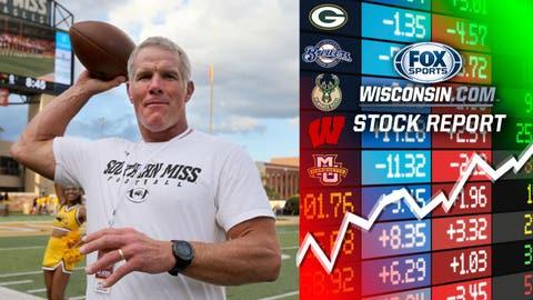 Brett Favre, former Packers quarterback (↑ UP)