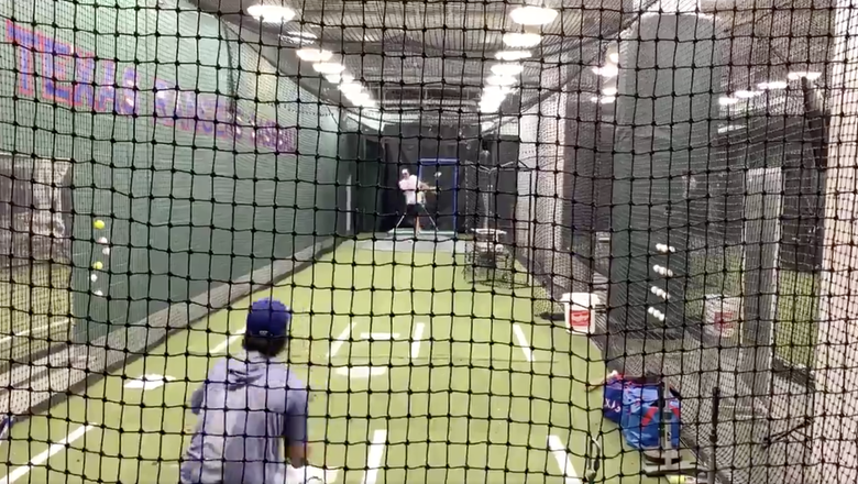 WATCH: Dirk Nowitzki tries to throw sidearm...and it's just a little outside