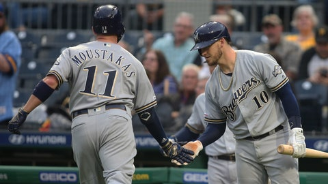 Mike Moustakas, Brewers second baseman (↑ UP)