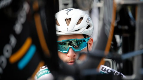 <p>               Slovakia's Peter Sagan is seen prior to a training session, in Brussels, Friday, July 5, 2019, ahead of upcoming Saturday's start of the race. (AP Photo/Christophe Ena)             </p>
