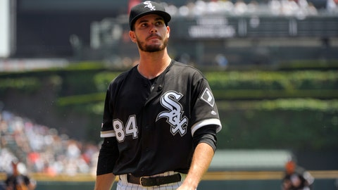 <p>               Chicago White Sox pitcher Dylan Cease heads to the dugout after his major league debut against the Detroit Tigers in the first inning of a baseball game Wednesday, July 3, 2019, in Chicago. (AP Photo/Mark Black)             </p>