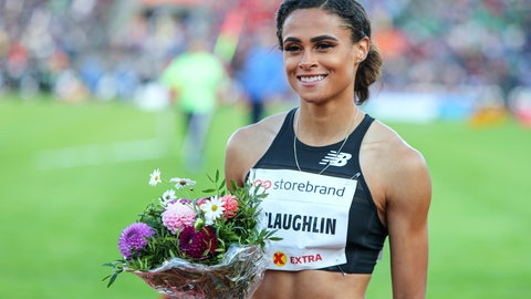 <p>               FILE - In this June 13, 2019, file photo, Sydney McLaughlin of the United States poses after winning women's 400m hurdles event at the IAAF Diamond League athletics competition in Oslo, Norway. About to turn 20 next month, she's juggling quite a few things these days _ new coach, living on the West Coast, making the transition from college to the pro circuit and the weight of lofty expectations. Her name constantly surfaces among the ones to watch heading into the Tokyo Games next summer.(Lise Aserud/NTB Scanpix via AP, File)             </p>