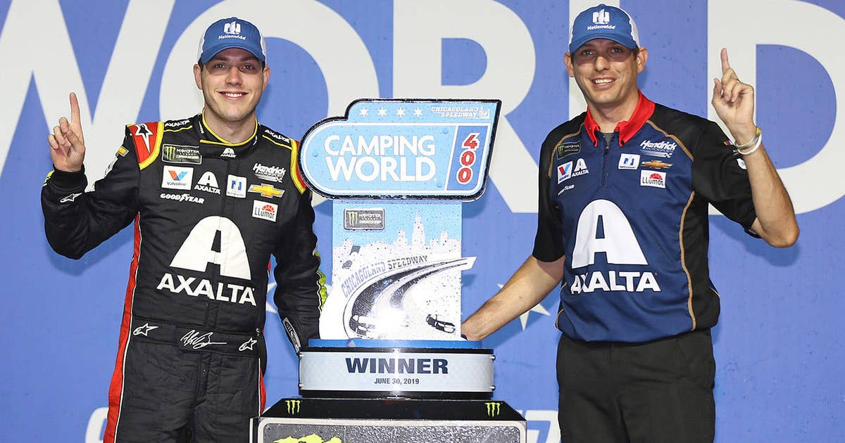 Winner's Weekend: Alex Bowman and Greg Ives at Chicagoland Speedway