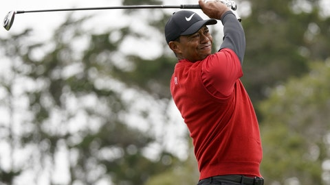 <p>               FILE - In this June 16, 2019, file photo Tiger Woods watches his tee shot on the second hole during the final round of the U.S. Open Championship golf tournament in Pebble Beach, Calif. Woods has played just three tournaments, 10 rounds, since he won the Masters. For only the seventh time in his career, he went from one major to the next without having played in between, and then he missed the cut at Bethpage Black in the PGA Championship. (AP Photo/Carolyn Kaster, File)             </p>