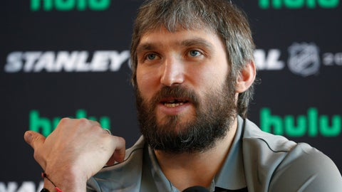 <p>               FILE - In this May 27, 2018, file photo, Washington Capitals left wing Alex Ovechkin speaks during an NHL hockey media day in Las Vegas. Capitals captain Alex Ovechkin will go to China as part of the NHL's continued outreach in that country. Ovechkin will visit Beijing in early August as a league ambassador. He's expected to take part in youth hockey clinics, interviews and business development meetings. (AP Photo/John Locher, FIle)             </p>
