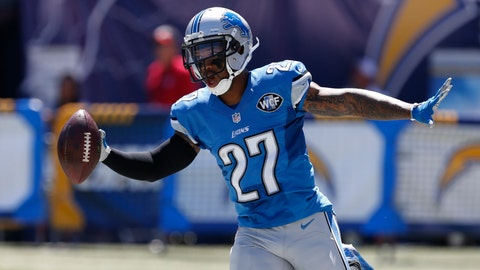 <p>               FILE - In this Sept. 13, 2015, file photo, Detroit Lions free safety Glover Quin reacts after scoring a touchdown after an interception against the San Diego Chargers during the first half of an NFL football game in San Diego. Glover Quin has retired from the NFL. The former Detroit Lions and Houston Texans safety announced his plans Tuesday, July 8, 2019, on Instagram. Lions general manager Bob Quinn says Quin was the definition of a leader.(AP Photo/Alex Gallardo, File)             </p>