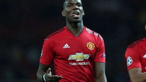 "<p>               FILE - In this April 10, 2019, file photo, Manchester United's Paul Pogba reacts after the Champions League quarterfinal, first leg, soccer match between Manchester United and FC Barcelona at Old Trafford stadium in Manchester, England. Manchester United manager Ole Gunnar Solskjaer deflected questions over the future of France midfielder Pogba, saying Wednesday, July 10, 2019 that Pogba has ""never been a concern"" for him and that Manchester United doesn't have to sell any player. (AP Photo/Jon Super, File)             </p>"