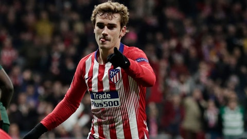 <p>               FILE - In this Wednesday, Nov. 28, 2018 file photo, Atletico forward Antoine Griezmann after scoring his side's second goal during a Group A Champions League soccer match between Atletico Madrid and Monaco at the Metropolitano stadium in Madrid. Barcelona's attempt to sign Antoine Griezmann has hit a setback after Atlético Madrid accused the Catalan club of negotiating with the player without its consent before his contract was over. (AP Photo/Manu Fernandez, File)             </p>