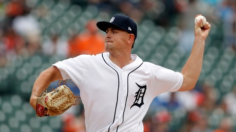 <p>               Detroit Tigers starting pitcher Tyler Alexander throws during the first inning of a baseball game against the Toronto Blue Jays, Sunday, July 21, 2019, in Detroit. (AP Photo/Carlos Osorio)             </p>