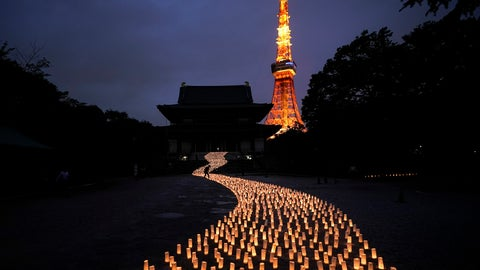 <p>               Thousands of candles are arranged in the shape of the Milky Way to celebrate Tanabata, a Japanese star festival, at Zojoji Temple in Tokyo, July 5, 2019. (AP Photo/Jae C. Hong)             </p>