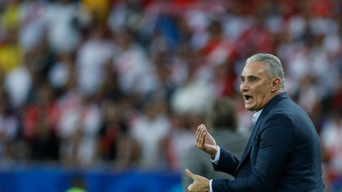 <p>               Brazil's coach Tite gestures during the final soccer match of the Copa America against Peru at the Maracana stadium in Rio de Janeiro, Brazil, Sunday, July 7, 2019. (AP Photo/Victor R. Caivano)             </p>