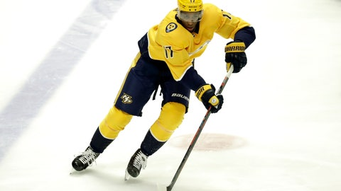 <p>               FILE - In this March 5, 2019 file photo Nashville Predators forward Wayne Simmonds plays against the Minnesota Wild in the third period of an NHL hockey game in Nashville, Tenn. The New Jersey Devils added Simmonds in free agency on Monday, July 1, 2019 agreeing to a $5 million, one-year contract with the physical winger. Simmonds, who turns 31 in August, played for Philadelphia and Nashville last season, finishing with 17 goals and 13 assists in 79 games. He also made two playoff appearances with the Predators. (AP Photo/Mark Humphrey, file)             </p>