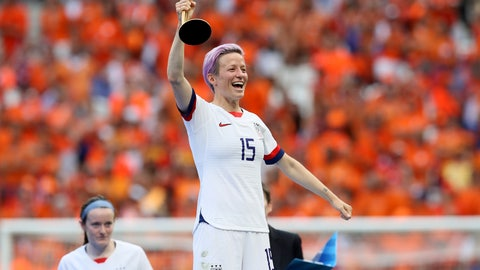 "<p>               FILE - This July 7, 2019 file photo shows Megan Rapinoe celebrating her team's victory after the Women's World Cup final soccer match between U.S. and The Netherlands outside Lyon, France. Penguin Press announced Thursday, July 25, that Rapinoe's book, currently untitled, will come out in Fall 2020. Penguin is calling the book a ""perfect vehicle"" for an ""honest, thoughtful, unapologetic"" take on everything from soccer to nationalism to gay rights. (AP Photo/David Vincent, File)             </p>"