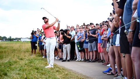 <p>               Matthew Wolff hits his ball out of the rough along the side of the 18th hole during the third round of the 3M Open golf tournament in Blaine, Minn., Saturday, July 6, 2019. (Aaron Lavinsky/Star Tribune via AP)             </p>