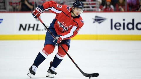 <p>               FILE - In this Saturday, Feb. 9, 2019 file photo, Washington Capitals left wing Jakub Vrana (13), of the Czech Republic, skates with the puck during the first period of an NHL hockey game against the Florida Panthers in Washington. The Washington Capitals have re-signed Jakub Vrana to a $6.7 million, two-year contract. The Prague native had three goals and five assists during the Capitals' 2018 Stanley Cup run and scored first in the title-clinching Game 5 of the final at Vegas. (AP Photo/Nick Wass, File)             </p>