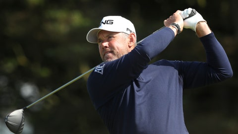 <p>               England's Lee Westwood tees off from the 5th hole during the third round of the British Open Golf Championships at Royal Portrush in Northern Ireland, Saturday, July 20, 2019.(AP Photo/Jon Super)             </p>
