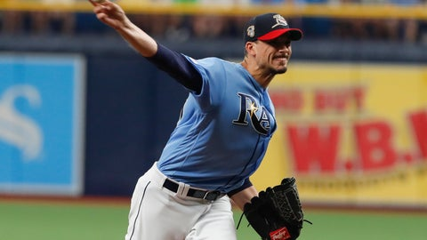 <p>               Tampa Bay Rays pitcher Charlie Morton works from the mound against the New York Yankees during the first inning of a baseball game Sunday July 7, 2019, in St. Petersburg, Fla. (AP Photo/Scott Audette)             </p>