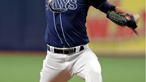 <p>               Tampa Bay Rays starting pitcher Charlie Morton delivers to the Boston Red Sox during the first inning of a baseball game Wednesday, July 24, 2019, in St. Petersburg, Fla. (AP Photo/Chris O'Meara)             </p>