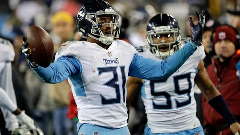 <p>               FILE - In this Saturday, Dec. 22, 2018 file photo, Tennessee Titans free safety Kevin Byard (31) celebrates after intercepting a pass against the Washington Redskins late in the fourth quarter of an NFL football game in Nashville, Tenn. The Tennessee Titans have made Kevin Byard the NFL's highest-paid safety with a contract extension hours before they report for training camp. The Titans announced the multi-year deal Wednesday night, July 24, 2019. (AP Photo/James Kenney, File)             </p>