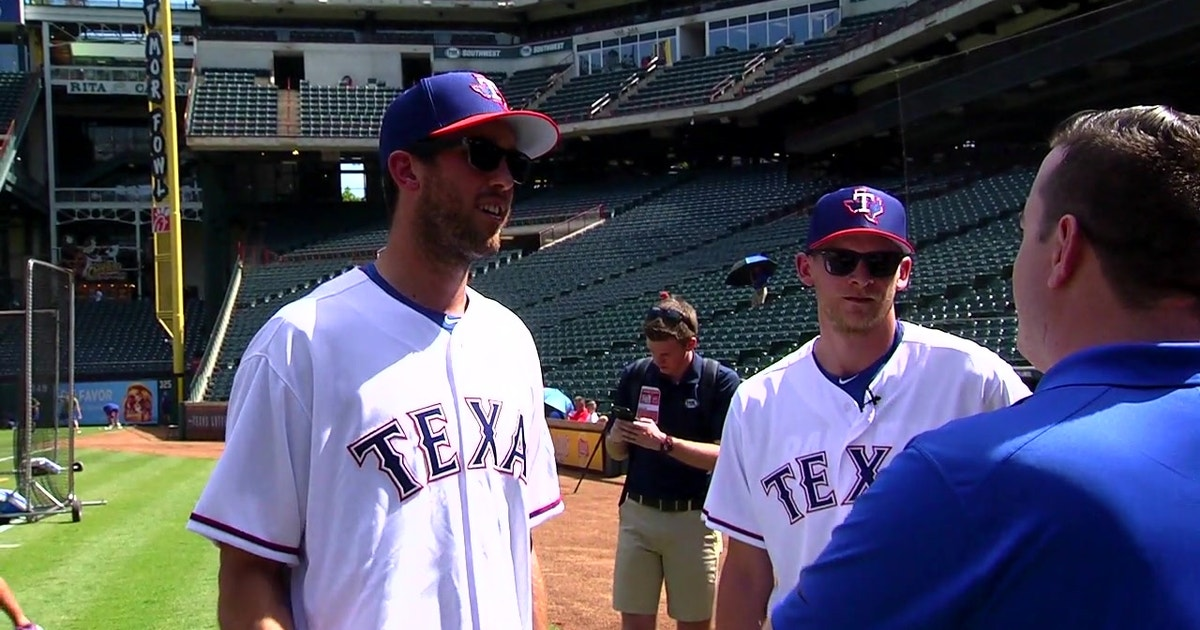 Bishop, Perry take BP before Dallas Stars Night | Rangers Insider