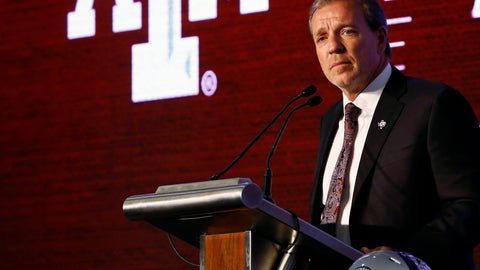 <p>               Texas A&M head coach Jimbo Fisher speaks during the NCAA college football Southeastern Conference Media Days, Tuesday, July 16, 2019, in Hoover, Ala. (AP Photo/Butch Dill)             </p>