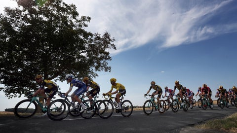 <p>               The pack rides during the eleventh stage of the Tour de France cycling race over 167 kilometers (103,77 miles) with start in Albi and finish in Toulouse, France, Wednesday, July 17, 2019. (AP Photo/Thibault Camus)             </p>