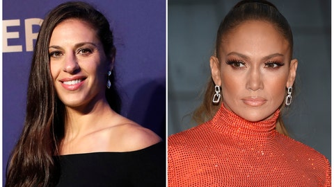 <p>               In this combination of file photos Carli Lloyd smiles prior to the women's soccer World Cup France 2019 draw, in Boulogne-Billancourt, outside Paris, on Dec. 8, 2018 and Jennifer Lopez attends the CFDA Fashion Awards at the Brooklyn Museum on June 3, 2019, in New York. Lloyd of the U.S. women's national soccer team celebrated her recent World Cup victory with a lap dance from J. Lo. Lopez pulled Lloyd from the audience to the stage at Madison Square Garden in New York on Friday, July 12, 2019, working her sensual moves on the soccer star.  (AP Photo)             </p>