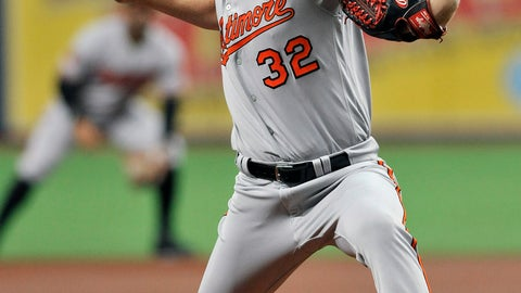 <p>               Baltimore Orioles starter Tom Eshelman, making his major league debut, pitches against the Tampa Bay Rays during the first inning of a baseball game Monday, July 1, 2019, in St. Petersburg, Fla. (AP Photo/Steve Nesius)             </p>
