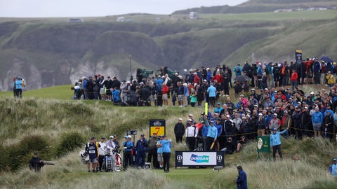 <p>               David Duval of The United States plays his shot from the 7th hole during the first round of the British Open Golf Championships at Royal Portrush in Northern Ireland, Thursday, July 18, 2019.(AP Photo/Peter Morrison)             </p>