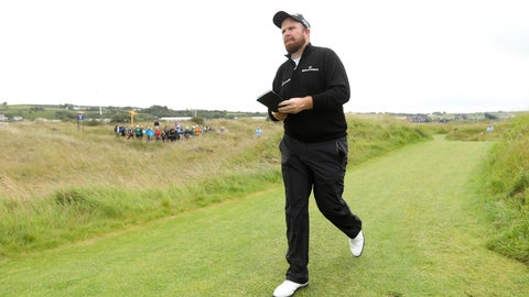 <p>               Ireland's Shane Lowry walks to the 17th hole during the first round of the British Open Golf Championships at Royal Portrush in Northern Ireland, Thursday, July 18, 2019.(AP Photo/Jon Super)             </p>