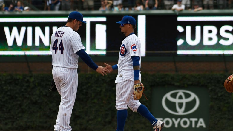 Rizzo's grand slam helps boost Cubs to win over Padres