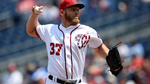 <p>               Washington Nationals starting pitcher Stephen Strasburg delivers during the third inning of a baseball game against the Los Angeles Dodgers, Sunday, July 28, 2019, in Washington. (AP Photo/Nick Wass)             </p>
