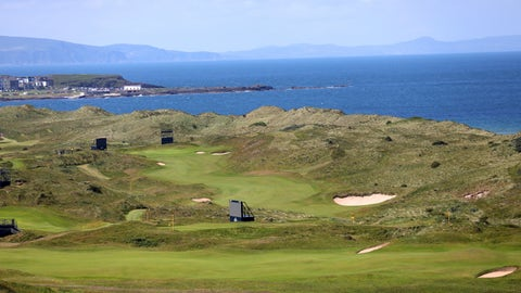 <p>               The Dunluce Links course at Royal Portrush Golf Club, Northern Ireland, Saturday, July 6,  2019. The Open Golf Championship will be played at Royal Portrush marking a historic return to Northern Ireland after it was last played there in 1951. (AP Photo/Peter Morrison)             </p>
