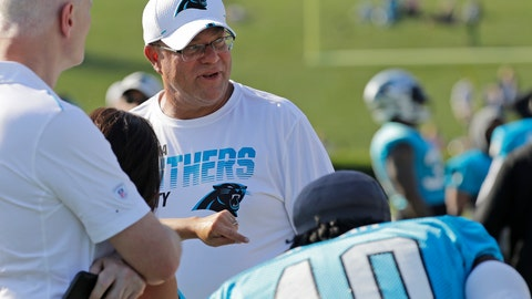 <p>               Carolina Panthers owner David Tepper watches his team during practice at the NFL football team's training camp in Spartanburg, N.C., Thursday, July 25, 2019. (AP Photo/Chuck Burton)             </p>