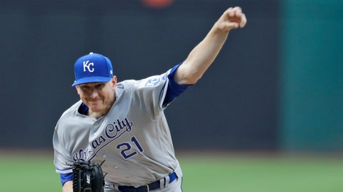 <p>               Kansas City Royals starting pitcher Mike Montgomery delivers in the first inning of the team's baseball game against the Cleveland Indians, Friday, July 19, 2019, in Cleveland. (AP Photo/Tony Dejak)             </p>