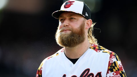 <p>               Baltimore Orioles starter Andrew Cashner walks back to the dugout after he pitched the top of the fourth inning of a baseball game against the Cleveland Indians, Saturday, June 29, 2019, in Baltimore. (AP Photo/Nick Wass)             </p>