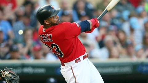 <p>               Minnesota Twins' NelsonCruz hits a solo home run off New York Yankees pitcher CC Sabathia in the first inning of a baseball game Monday, July 22, 2019, in Minneapolis. (AP Photo/Jim Mone)             </p>