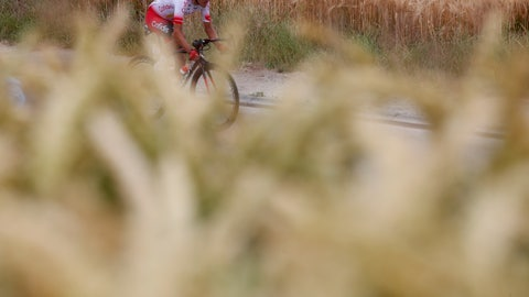 <p>               France's Stephane Rossetto rides during the first stage of the Tour de France cycling race over 194.5 kilometers (120,86 miles) with start in Brussels and finish in Brussels. Saturday, July 6, 2019. (AP Photo/Thibault Camus)             </p>
