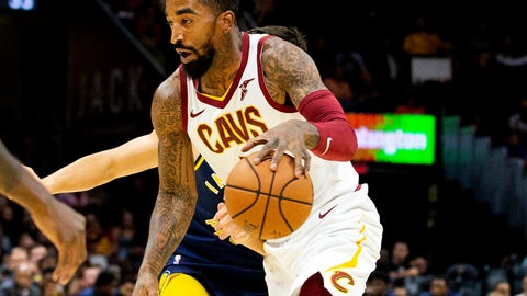 <p>               FILE - In this Oct. 8, 2018, file photo, Cleveland Cavaliers guard J.R. Smith dribbles to the basket during the first quarter of a preseason NBA basketball game against the Indiana Pacers in Cleveland. The Cavaliers waived Smith, ending his eventful tenure with the team. Cleveland tried to trade Smith, but could not find the right package and released him to cut space under the salary cap and avoid paying any luxury taxes. (AP Photo/Scott R. Galvin, File)             </p>
